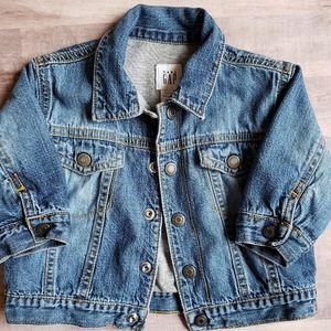 Baby Gap Blue Jean Denim Button Jacket 3-6 month